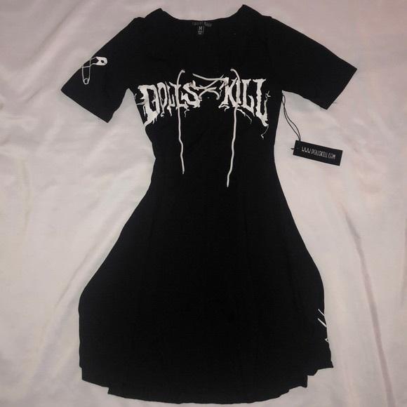 Dolls Kill Dresses & Skirts - Dollskill Lace Up Current Mood Dress Medium NWT
